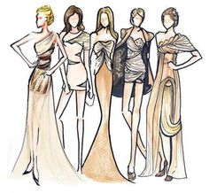 Useful suggestions on drawing fashion design, with tips and examples of fashion design drawings to help you! Fashion Book with fashion design drawing Fashion Model Sketch, Fashion Sketches, Fashion Illustrations, Fashion Sketchbook, Trendy Fashion, Fashion Art, Fashion Models, Fashion Designers, Fashion Women