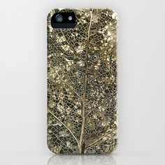 Soooo cool!  Anything leaf design - I'm in.   Old gold iPhone  iPod Case by Polly470 - $35.00
