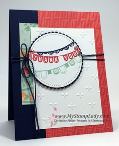 Create a handmade Thank You Card with the Sale-A-Bration Any Occasion stamp set and Carried Away Designer Series Paper