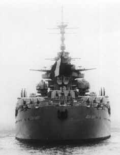 Photographs of the French Battleship Jean Bart A Richelieu-Class battleship, incomplete at the start of World War Two completed post war for the French Navy Uss Massachusetts, Operation Torch, Jean Bart, Marine Francaise, Gun Turret, Us Navy Ships, Merchant Marine, Submarines, Aircraft Carrier