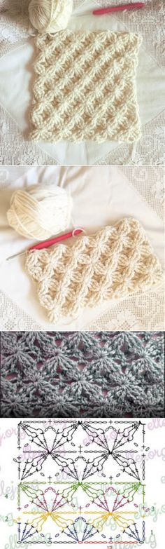 ergahandmade: Crochet Stitch + Diagram + Video Tutorial