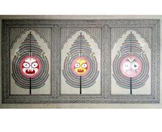 Pichwai Paintings, Madhubani Art, Indian Folk Art, Decorative Plates, Abstract, Canvas, Crafts, Summary, Tela