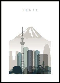 Tokyo Skyline from Art Prints Vicky...