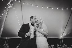 Sweet reception moment captured by Rob + Kristen Photography