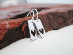I Love You  Sterling Silver Cut Out Heart by JulieEllynDesigns, $32.00