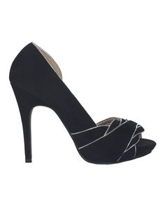 No closet is complete without a classic pair of pumps like these. A height-adding heel elevates this pair to eye-catching levels, while the classic silhouette and open toe create high-fashion feet for any occasion.4.75'' heel with 1'' platformMan-madeImported
