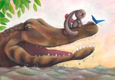 "Illustration from picture book ""Ciacio in Amazonia"" by Sarah Khoury, published in 2015 by Lavieri Edizioni"