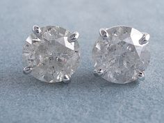 2.33 ctw Round Cut Diamond Earrings K I1. For sale for $2,490 on ...