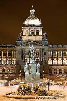 Prague,  National Museum building and St. Wenceslas Statue Copyright: Peter Zurek