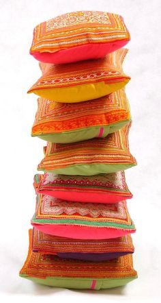 pile of scatter cushions