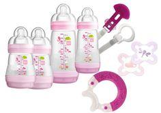 Mam Baby Bottle Starter Large Set Girls Teething Feeding Brand NEW