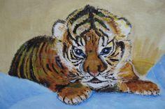 Tijgerwelp geschilderd door Anje