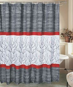 Take a look at this Black & Red Sutton Shower Curtain by Beatrice Home on #zulily today! $16.99, regular 30.00