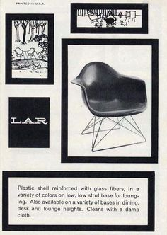 "From a 1950s Herman Miller ""Seating"" brochure, featuring a Herman Miller Eames LAR."