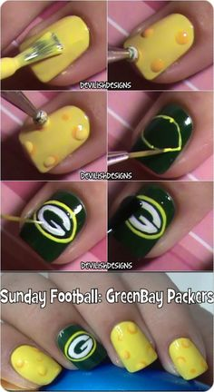 Green Bay Packers Tutorial I just want this to remind me about the yellow part for when I do 'Sponge Bob' for my niece.