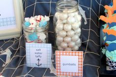 Summer Party, Outdoors Birthday, little boy, water, food and drink, under the sea snacks, Honey Bash, 1st Birthday Party: Nautical Summer Fun for Clark