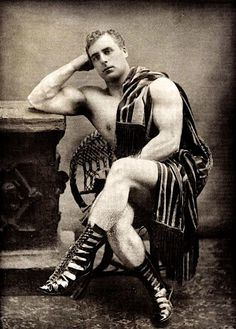 """William Bankier, author of Ideal Physical Culture as """"Apollo: The Scottish Hercules,"""" c. 1900."""