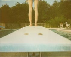 Items similar to Diving Board - Retro Polaroid Print - Legs Swimming Pool Summer Vacation Photography Print on Etsy