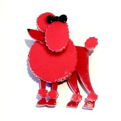Rare Discontinued Madame Amore Poodle Brooch by Erstwilder - highly collectible
