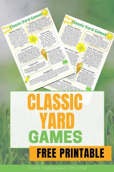 Recapture some of your childhood with these classic yard games. Taking the time to play again makes a huge impact on your family and your mental health  #outdoor #activity #games #fun #summerfun #yardgames Projects For Kids, Diy For Kids, Activity Games, Activities, Frozen Games, Game Tag, We Make Up, Crossword Puzzles, Yard Games