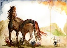 Susanne Eriksson -illustrations ©madebysusy: Energy of a horse.