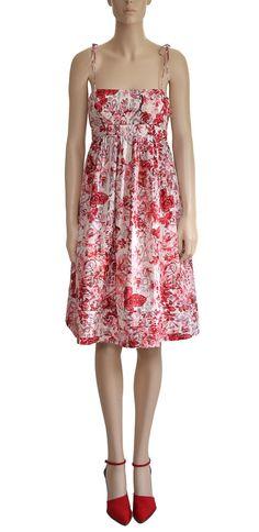 Women S Dress Gap Red Fl Vintage By Hudsonflowvintage