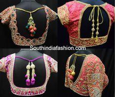 Top 10 Blouse Designs for wedding silk sarees, latest blouse designs, maggam work blouse designs, silk saree blouse designs, wedding blouses Blouse Back Neck Designs, Simple Blouse Designs, Stylish Blouse Design, Dress Designs, Pattu Saree Blouse Designs, Saree Blouse Patterns, Kurta Designs, Sari Bluse, Beautiful Blouses