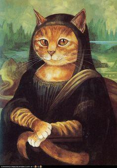 meow-na lisa by susan herbert