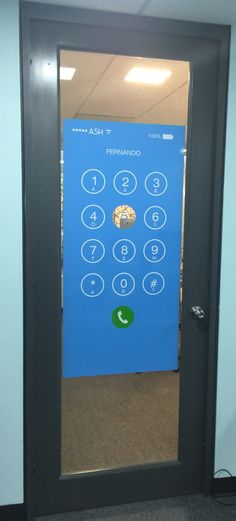 Aaron Stewart Home corporate office doors. Fun office signs for privacy. You can pick through the number 5!