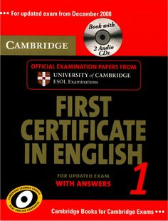 Cambridge first certificate in english 1