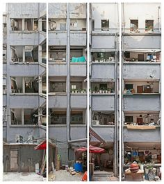 Chung Jeong Apartment, Ink Jet Print 240x202cm by Photographer Choe Jung Won