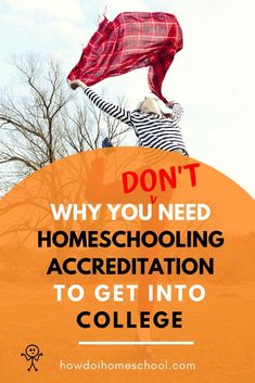 Why You Don't Need Homeschool Accreditation to Get Into College! Learn why you don't need to be studying an accredited homeschool program to enter college and different pathways that will get you into college. #accreditedhomeschoolprogram #homeschoolaccreditation #homeschoolcollege