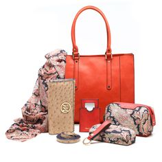 Another great find on emilie m. White Ostrich Embossed Kimberley Tote & Essentials Kit by emilie m. Paisley Scarves, Essentials, Kit, Vegan Leather, Cosmetic Bag, Blue Denim, Shoulder Strap, Sunglasses Case, Handbags