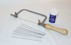 Jewelers Or Crafters Saw Kit With Twelve Blades And Cutting Lube