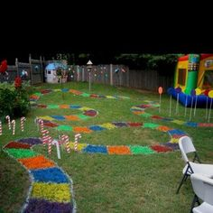 Birthday Party Ideas that Rule! Candyland Birthday Party from Evelyn Kirchner. These DIY Birthday Party Ideas are awesome!Candyland Birthday Party from Evelyn Kirchner. These DIY Birthday Party Ideas are awesome! Backyard Birthday, Diy Birthday, Turtle Birthday, Turtle Party, Bounce House Birthday, Lollipop Birthday, 25th Birthday, Birthday Board, Ideias Diy