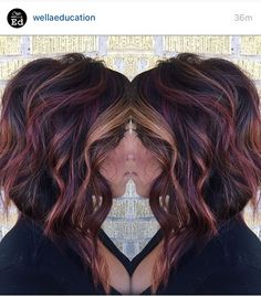 fall hair Hello from the other side, weve called a thousand times to tell you this color makes our heart flutter. Right, Adele heatherpaigelankford Hair Color And Cut, Violet Red Hair Color, Dark Fall Hair Colors, Edgy Hair Colors, Short Hair Colors, Fun Hair Color, Black Cherry Hair Color, Pinterest Hair, Up Girl
