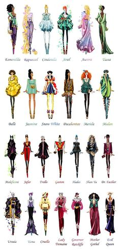 Disney Characters Get Modern Couture Makeover on Caitlin O'Brien's Blog
