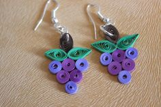 Fruity Quilled Earring by SiyaArts on Etsy, $8.00