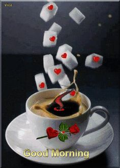 Good morning it's coffee time ~.~ You are in the right place about GIF Here we offer you the most beautiful pictures about the GIF de amor you are looking for. When you examine the Good morning it's c Good Morning Gift, Good Morning Sister, Good Morning Roses, Good Morning Coffee, Good Morning Messages, Good Morning Images, Coffee Time, Good Morning Boyfriend Quotes, Good Morning Sweetheart Quotes