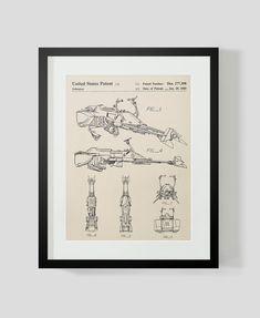 Star Wars Speeder Bike Patent Art Print by michaelellisstudios on Etsy https://www.etsy.com/listing/252866327/star-wars-speeder-bike-patent-art-print #patentartdecor