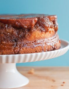 persimmon upside down cake: overripe persimmons