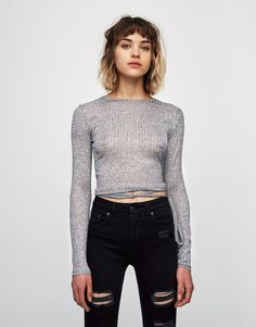 Ballerina sweater with ribbons - Knit - Clothing - Woman - PULL&BEAR Hungary