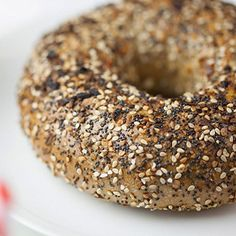 Win free New York Bagel delivery for a year! Trader Joes, Bagel Toppings, Whole Wheat Bagel, New York Bagel, Dehydrated Onions, Natural Honey, Everything Bagel, Freshly Baked, Nut Free