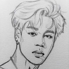 This is one of my Favorite pictures It is a drawing on Jimin of BTS! I used the water color paper and a pencil i think it looks pretty good. Hope you like it! Jimin Fanart, Kpop Fanart, Kpop Drawings, Fan Art, Drawing Sketches, Sketching, Art Tutorials, Art Inspo, Art Reference