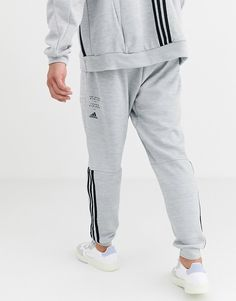 adidas Training ID pants in grey at ASOS. Adidas Track Pants Mens, Adidas Men, Co Ord Suit, Denim Fashion, Fashion Outfits, Mens Cotton Shorts, Adidas Outfit, Mens Clothing Styles, Summer Wear