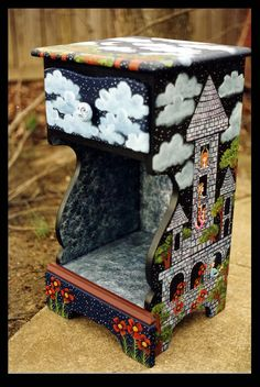 Enchanted Castle Nightstand by ReincarnationsDotCom on DeviantArt