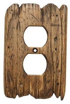 Western Wood Switch Plate Hand Carved Old West Style O1 Shown In Color Rustic