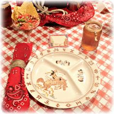 RE-ceiving guests: Western tablescapes Vintage Western Decor, Barrett, Checkered Tablecloth, Paper Towel Holder, Towel Holders, Margarita Glasses, Western Parties, School Fundraisers, White Beads