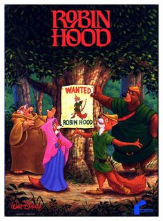 Robin Hood - still my very favorite Disney movie...and quite possibly the very earliest basis for my obsession with England, castles, and the whole lot. And possibly foxes too, now that I think of it. Lol.