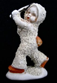 ca. 1930 Bisque Snowbaby with a Baton.